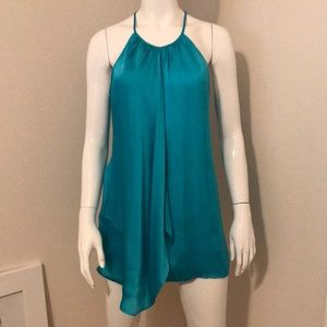 Vince Camuto Turquoise Silk-like Summer Top
